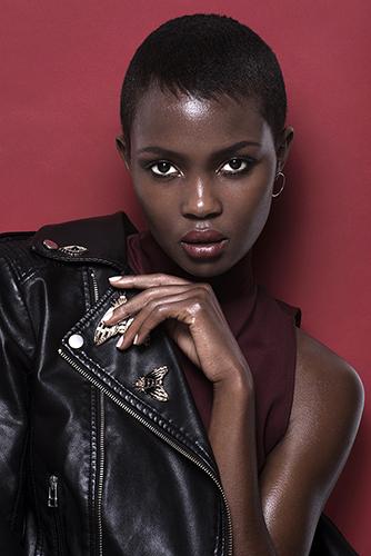 photo beauté visage peau maquillage noire africaine