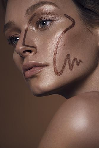 photo beauté bouche visage peau maquillage bronzage