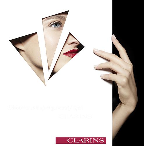 campagne beauté clarins mains cosmétiques soins